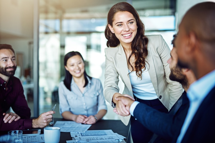 Woman Outsourcing Technology Support